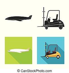 carico, beni, illustration., oggetto, isolato, collezione, vettore, magazzino, icon., casato