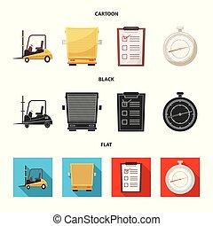 carico, beni, segno., oggetto, web., isolato, collezione, magazzino, simbolo, casato