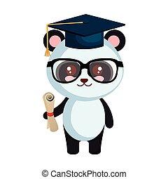 carino, poco, carattere, orso panda