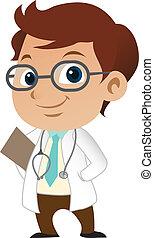 carino, poco, dottore maschio