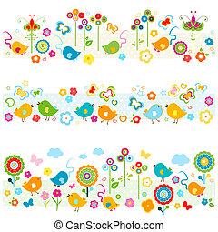 carino, profili di fodera, elementi, colorito, natura