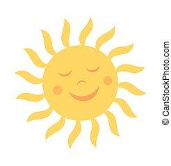 carino, sole, sorriso
