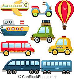 carino, vettore, trasporto
