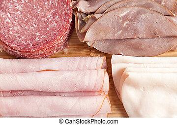carne affettata, assortito