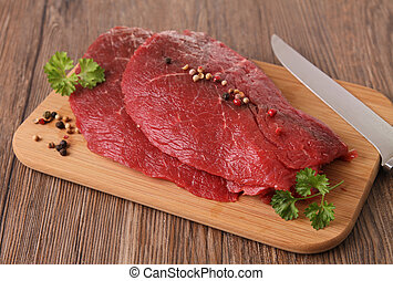 carne cruda, manzo