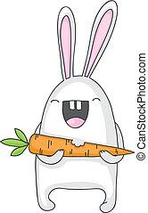 carota, coniglietto
