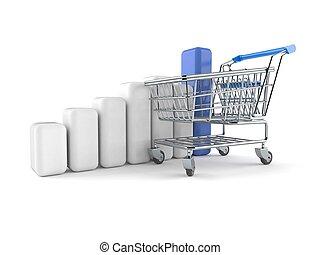 carrello, shopping, grafico
