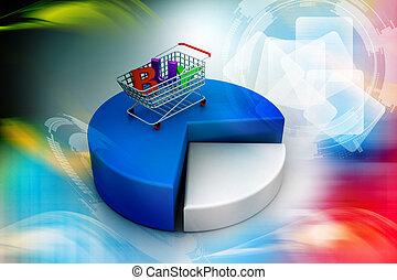 carrello, shopping, settori