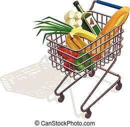 carrello, supermercato