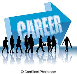 carriera, direzione, -
