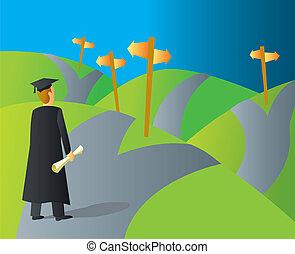 carriera, laureato università, percorsi