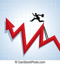 carriera, progresso, crescita, ve, affari