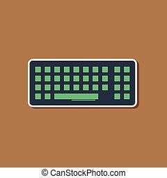 carta, adesivo, computer, fondo, tastiera