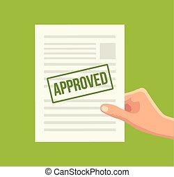 carta, approvato, documento