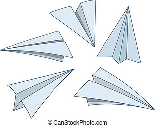 carta, cartone animato, piani