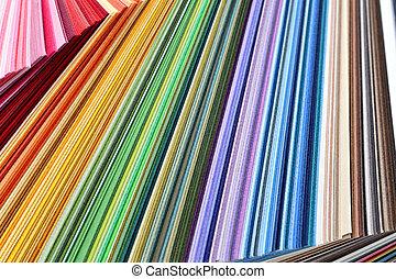 carta colore, -, colorito, campioni