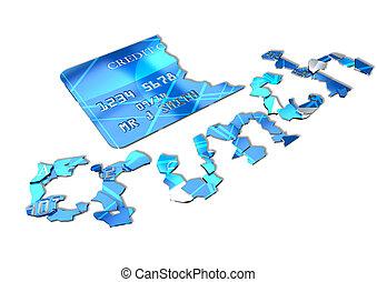 carta credito, scricchiolio