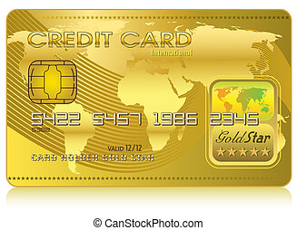 carta credito, (vector)