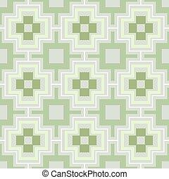 carta da parati, pattern., seamless, vettore, verde, geometrico