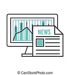 carta, desktop, monitor, notizie