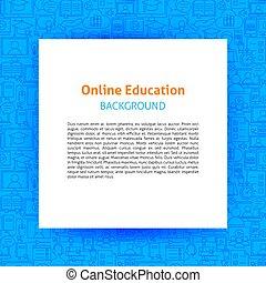 carta, educazione, linea, sagoma