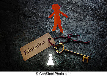 carta, educazione, uomo
