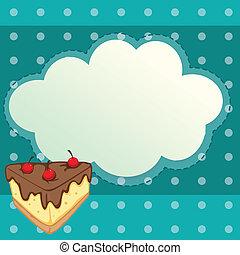 carta, fetta torta, speciale