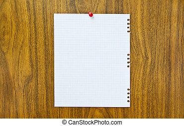carta, foglio, notice-board, vuoto