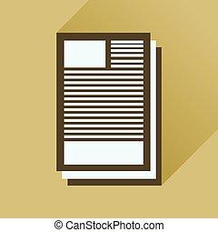 carta, icona, lungo, affari, uggia, appartamento