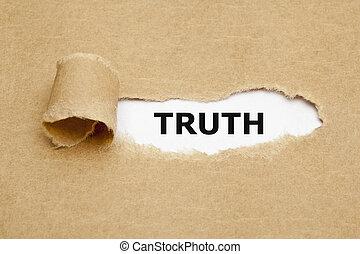 carta lacerata, verità