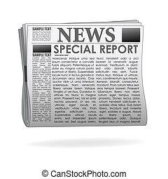 carta notizie, relazione, speciale
