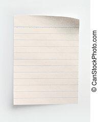 carta, quaderno, foderare