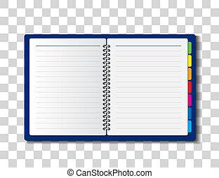 carta, quaderno, illustrazione