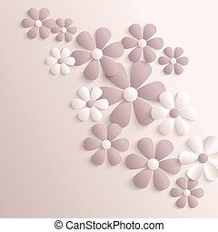 carta, sakura, flowers., 3d