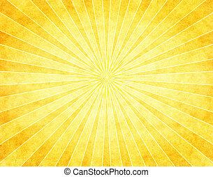 carta, sunburst, giallo