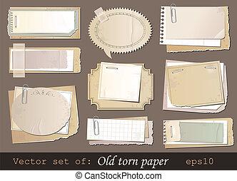 carta, vecchio