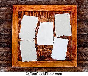 carta, vuoto, asse, legno