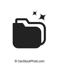 cartella, dati, analisi, icona