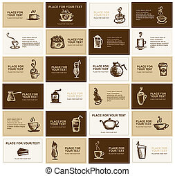 cartelle, caffè, disegno, ditta, affari