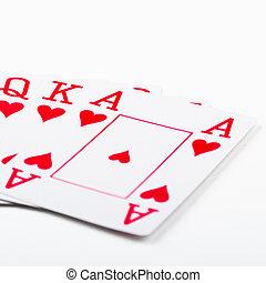 cartelle, gioco, scorrere, reale