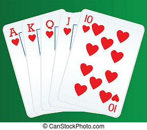 cartelle, poker, rossore reale