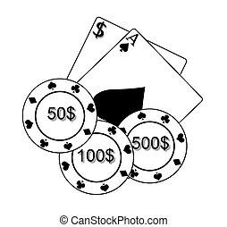 cartelle, poker scheggia