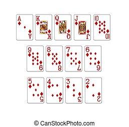 cartelle, poker, set, illustrazione