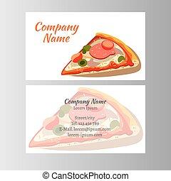 cartelle, progetto serie, affari, pizza