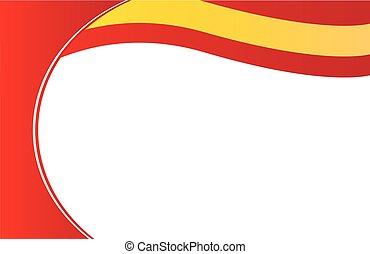 cartolina, bandiera, bordo, spagna
