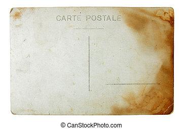 cartolina, invertire, lato