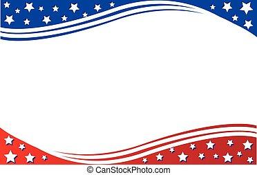 cartolina, patriottico, bordo