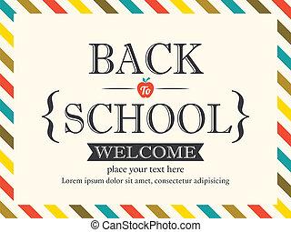 cartolina, scuola, fondo, indietro, sagoma