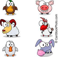 cartone animato, animali