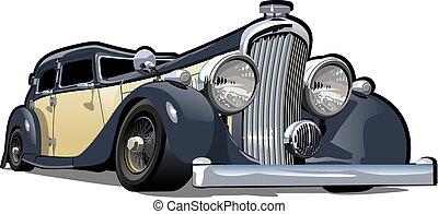 cartone animato, automobile, retro